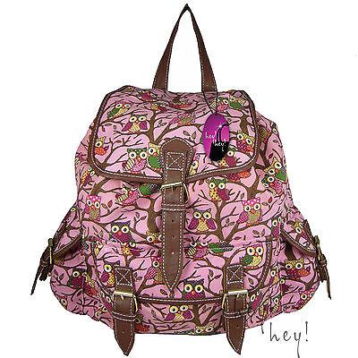 Backpack Ladies Girls Women Print Bag Medium Large Rucksack School Gym Travel UK