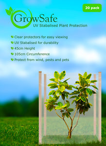 20x + Huge XL Extra Large 1000mm by 450mm Tree Guard Protection Tube SafeGrow UV
