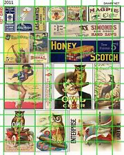 2011 DAVE'S DECALS HO SCALE OWL CIGAR HONEY BREAD BEER SADDLES HAND SAWS 30 40's