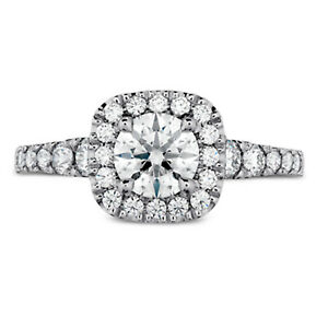1.10 Ct Certified Moissanite Anniversary Ring 18K Solid White Gold ring Size 6 7