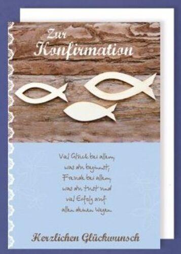 Konfirmationskarten Konfirmation Karten Glückwunschkarte mit Umschlag OVP