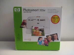 PHOTOSMART 335xi GOGO PHOTO PRINTER BONUS BOX/USB CABLE & 4X6 PHOTO PACKS NEW