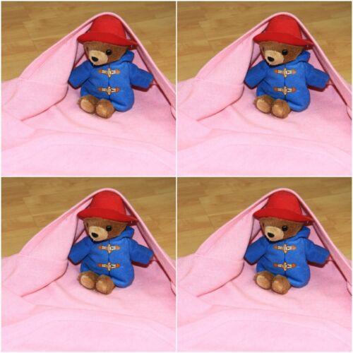 Cashmere Couverture pour nouveau-né rose fille bébé chaud à capuche Wrap