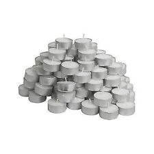 IKEA GLIMMA TEA LIGHT tealight Candele - 100 x tè LUCI, 38mm Wide PandP gratuito UK