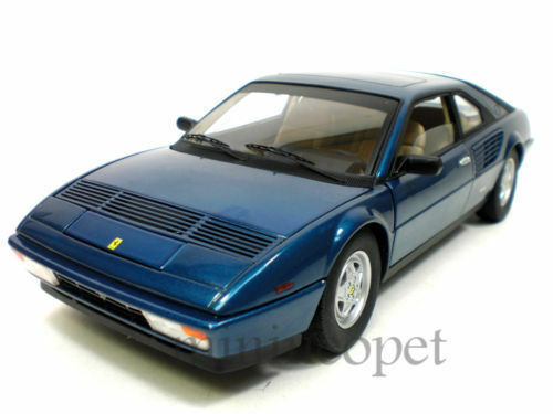 HOT WHEELS ELITE P9890 FERRARI MONDIAL 3.2 1 18 DIECAST blueE