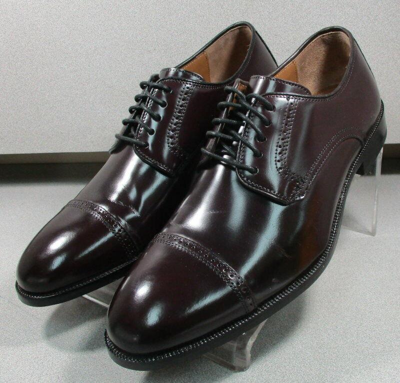 151773 WT50 Mens Shoe Size 10 M Burgundy Leather Johnston Murphy Walk Test