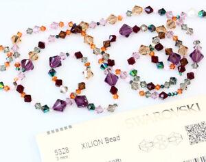 Genuine-SWAROVSKI-5328-XILION-Bicone-Crystals-Beads-More-Colors-amp-Sizes