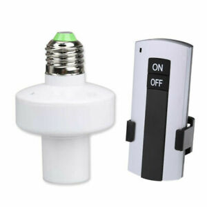 E27 Screw Wireless Remote Control Light Lamp Bulb Holder Cap Socket Switch