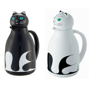 Helios Thermos Cat Tea Pot Hot Water Bottle Warm Cool
