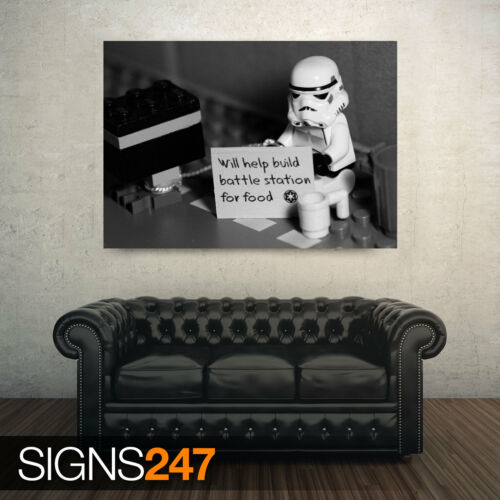 Poster Print Art A0 A1 A2 A3 AD379 HELP FOR A STORMTROOPER FUNNY POSTER