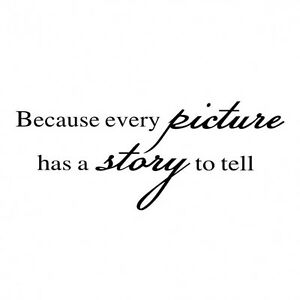 Because Every Picture Has A Story To Tell Wall Stickers Decal