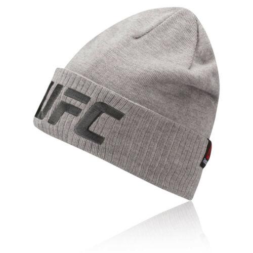Grey Sports Outdoors Warm Breathable Lightweight Reebok Mens UFC Logo Beanie