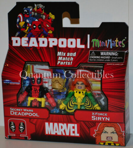 Marvel Minimates Wave 65 Secret Wars Deadpool and X-Force Siryn 2-Pack