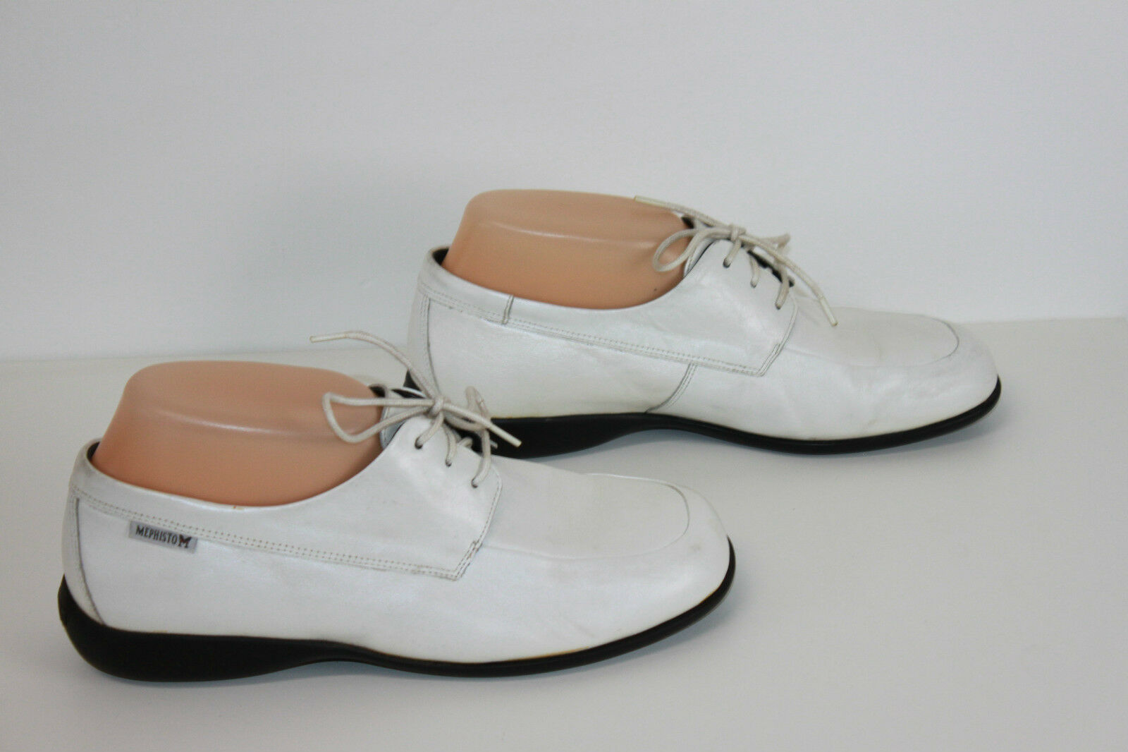 MEPHISTO Derby shoes White Leather Pearly T 6.5 US   t BE