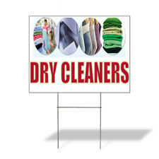 Weatherproof Yard Sign Dry Cleaners A Outdoor Advertising Printing Lawn Garden