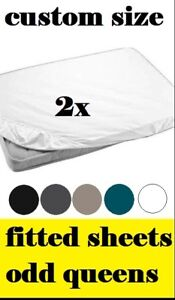 Image Is Loading Custom Size Bed Sheets Made To Order Fitted