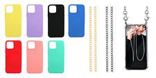 Funda Carcasa Silicona Suave Colgante Cordon Metalizado Apple iPhone 13 Pro Max