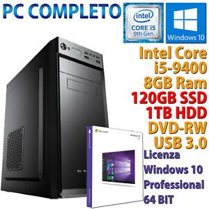 PC-Computer-Desktop-Intel-Core-i5-9400-RAM-8GB-SSD-120GB-HDD-1TB-Dvd-Rw-HDMI