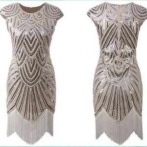 Details about Flapper Costume Adult Roaring 20s Graduation dress Fancy  Dress Plus Size 4-22