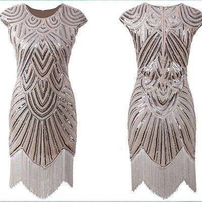 Flapper Costume Adult Roaring 20s Graduation dress Fancy Dress Plus Size  4-22 | eBay