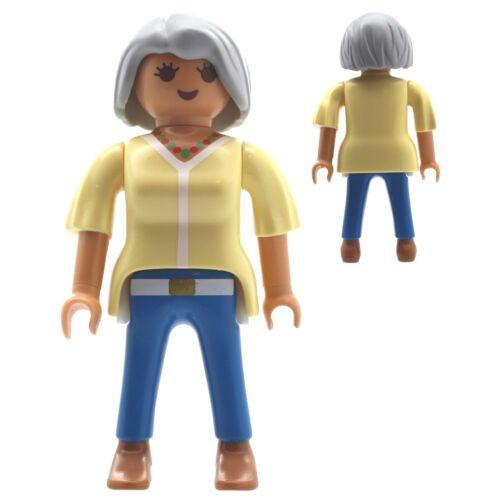 Playmobil 1 x Figur Frau Dame alte Frau Oma graue Haare Puppenhaus City Life