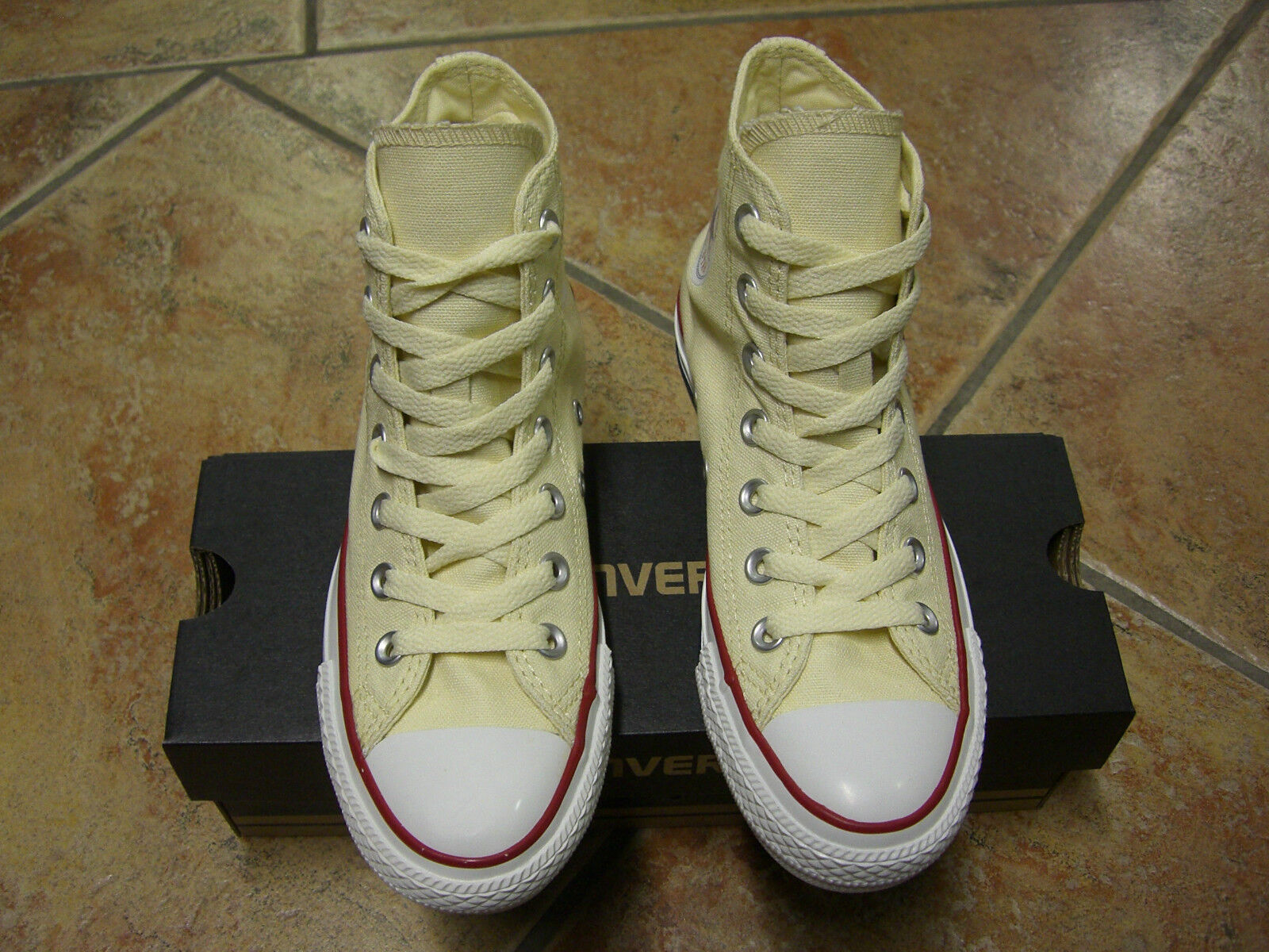 Converse Chucks All Star HI Gr.46,5 WHITE WEISS  M 9162 NEU TRENDY TOP