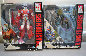 (2) Transformers Generations Combiner Wars Voyager Class Onslaught & Scattershot