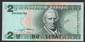Lithuania 2 Litai 1993 UNC P#54
