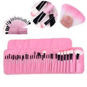 32-Pcs-Woman-Make-Up-Brush-Blush-Foundation-Brush-Set-with-Case-Bag-Pink-US