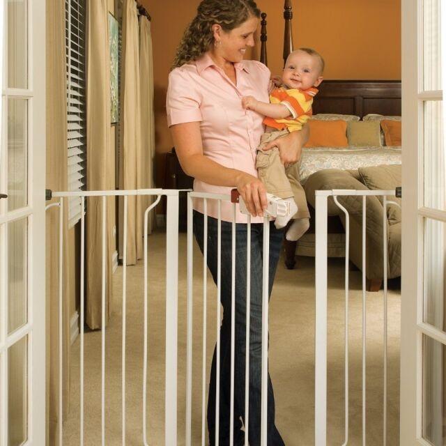 Regalo Extra Tall Widespan Walk Through Safety Gate White 1154 Ebay