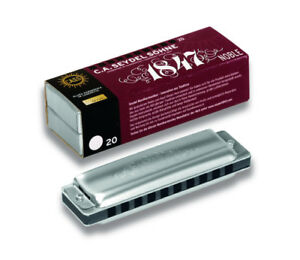 Seydel-1847-NOBLE-Steel-Reed-Harmonica-Aluminum-Comb-Pick-a-Key-Low-amp-Double-Low