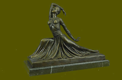 Bronze Sculpture Hand Made Statue ART DECO BELLY DANCER BY CHIPARUS BRONZE GIFT