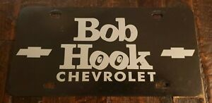 Vintage Bob Hook Chevrolet Dealership License Plate Louisville Ky Free Ship Ebay