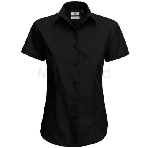 B/&C Collection Womens Fashion Smart Short Sleeve Shirt