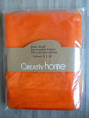Organza Stoff Dekostoff Gardine transparent 1,5 m x 3 m orange 808100-70 F58