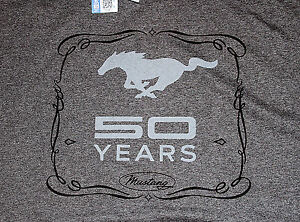 Ford-Mustang-50-Years-DARK-HEATHER-GRAY-Adult-T-shirt
