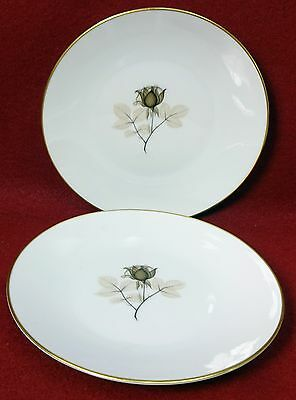 """- 7-5//8/"""" Set of Two 2 ROSENTHAL china 3488 /""""PINK ROSES/"""" pattern SALAD Plate"""