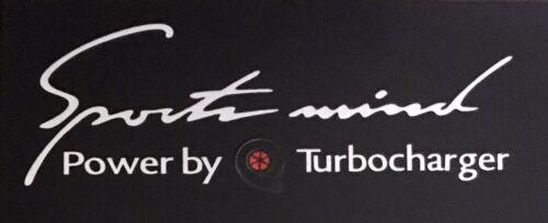 Reflective Stylish Sticker Sport Mind Turbocharger Emblem H:9cm x W:25cm Silver