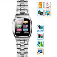 Silver 1.6 Tft Touch Watch Mobile Cell Phone With Camera Unlocked Tw810