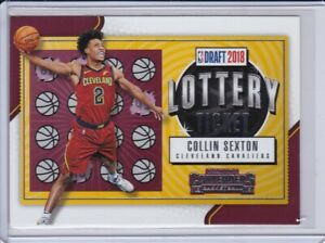 2018-19-PANINI-CONTENDERS-COLLIN-SEXTON-8-LOTTERY-TICKET-Rookie-Card-Cavaliers