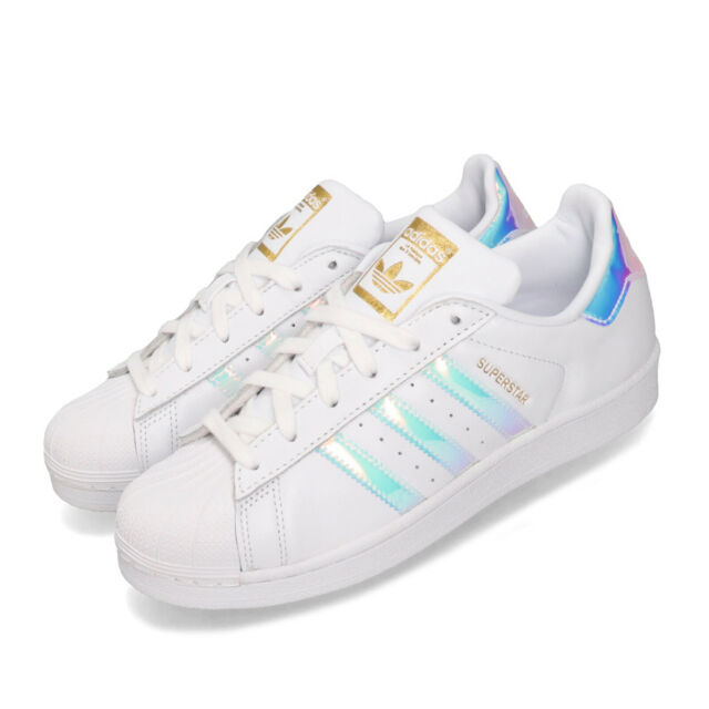 adidas Originals Superstar W White Gold Iridescent Hologram Women Shoes EG2919