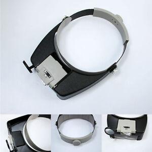 Multi Magnifying Glass Led Light Lamp Visor Head Loupe