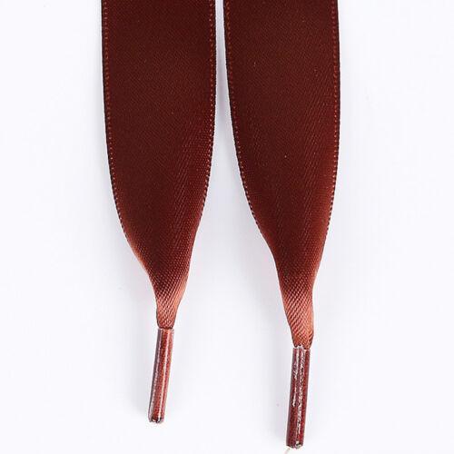 Bootlace Sport Shoelaces Shoe Laces Flat 2cm Wide Ribbon Satin String Unisex