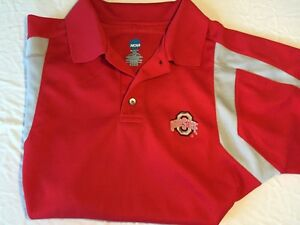 Mens ncaa embroidered ohio state buckeyes polo golf shirt for Ohio state golf shirt