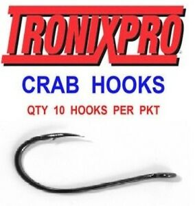 10 TRONIX CRAB HOOKS SIZE 10 FOR SEA FISHING LINE BOAT ROD BAIT CLIP RIGS LURES - Billingham, United Kingdom - 10 TRONIX CRAB HOOKS SIZE 10 FOR SEA FISHING LINE BOAT ROD BAIT CLIP RIGS LURES - Billingham, United Kingdom