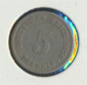 German-Empire-Jagerno-3-1876-e-very-fine-Copper-Nickel-1876-5-Pfennig-7849325