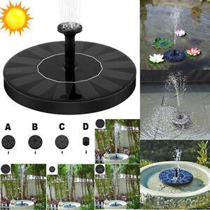 Solarpumpe Springbrunnen Teichpumpe Brunnen Fontäne Gartenteich Wasserspiel 1,4W