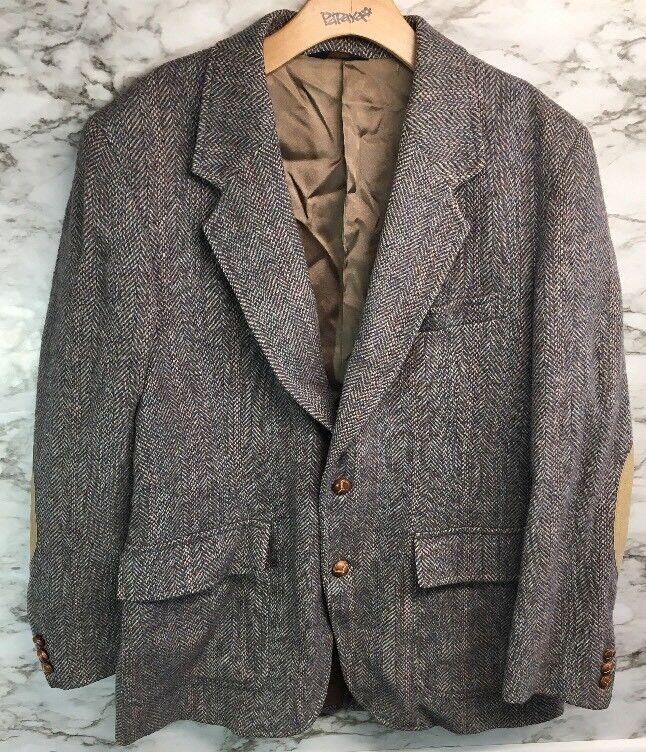 Vintage Pendleton  Herren Sport Coat Blazer 100% Wool Größe 42 Elbow Patch USA  29