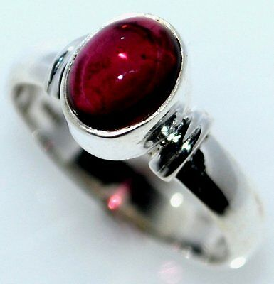 Red Pink TOURMALINE Sterling Silver Ring 925 RARE Gemstone Size from 5 K to 12 Y