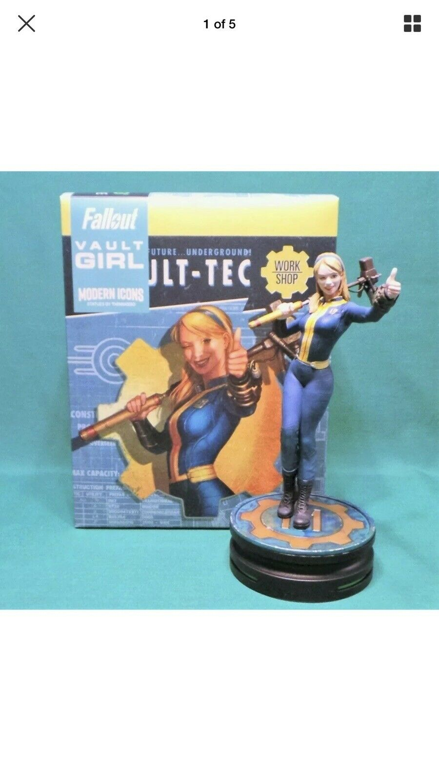 Modern Icons  7 Fallout Vault Girl Estatua 9  Tec estatuilla base nuevo 2019 en la mano